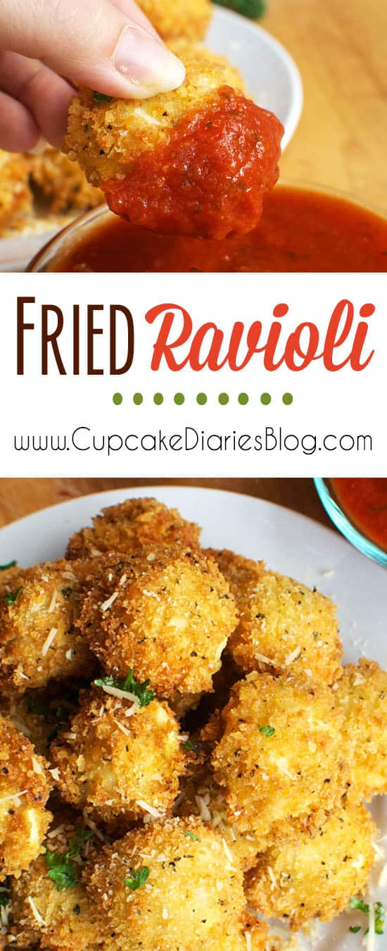 Fried Ravioli - Perfect for a holiday party or family dinner!
