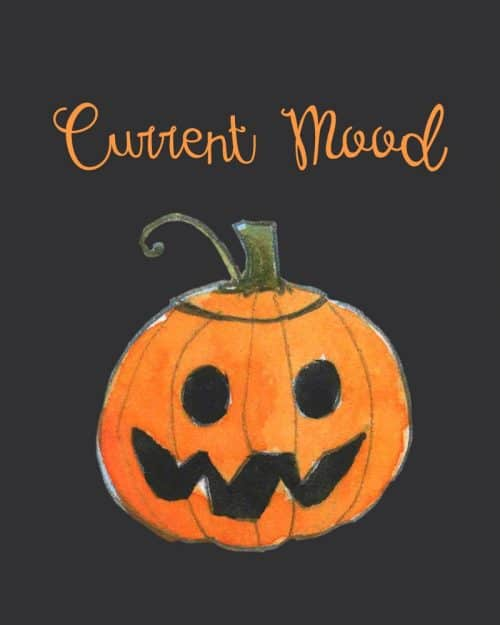 """Current Mood"" Printable Halloween Decor"
