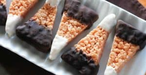 Chocolate Dipped Candy Corn Rice Krispie Treats – 30 Days of Halloween 2016: Day 11