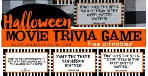 Printable Halloween Movie Trivia Game – 30 Days of Halloween: Day 24