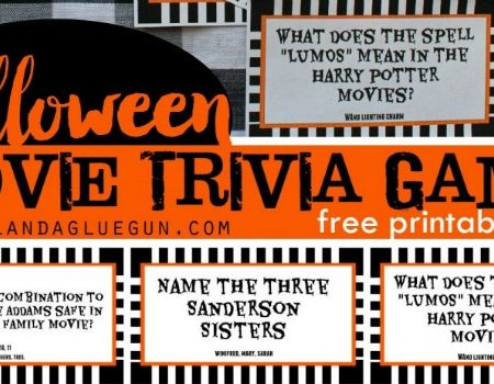 Printable Halloween Movie Trivia Game