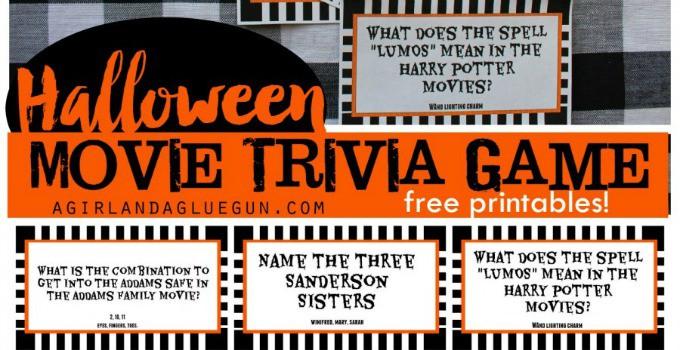 Printable Halloween Movie Trivia Game – 30 Days of Halloween: Day 24