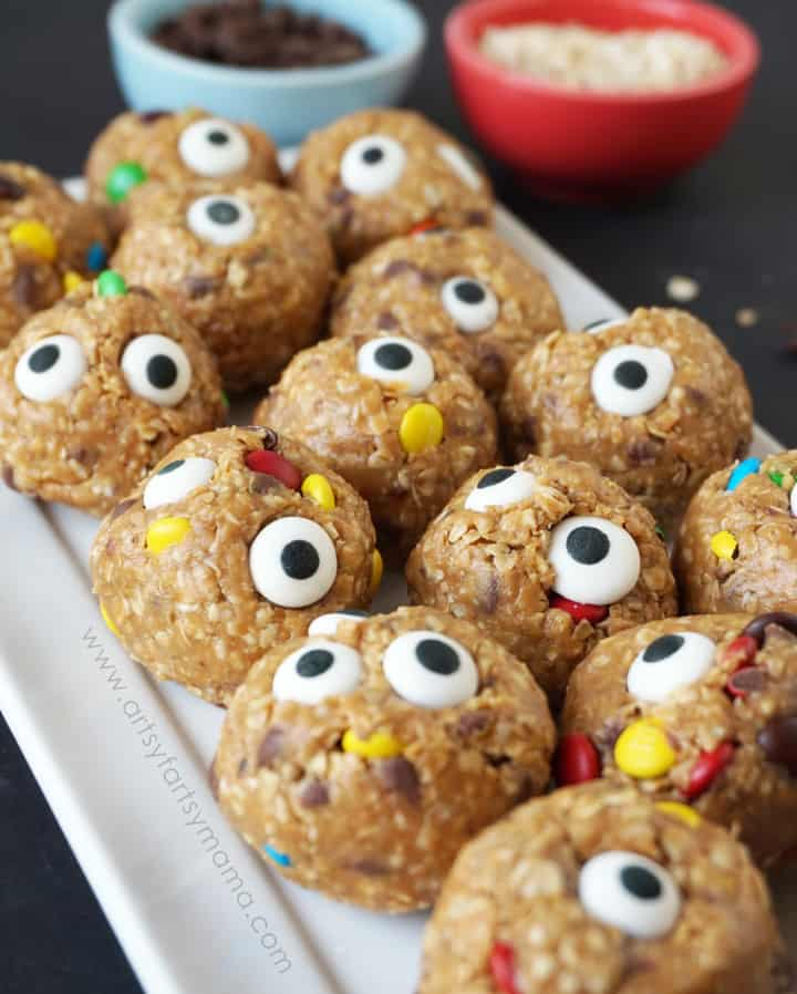 No Bake Monster Bites