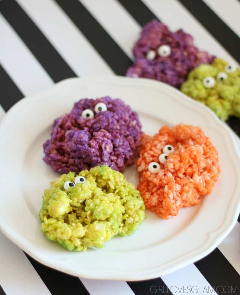 monster rice krispie treats 30 days of halloween 2016 day 5 by cupcake diaries foodblogs
