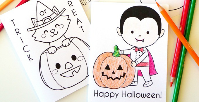 Printable Halloween Coloring Books - 30 Days of Halloween 2016: Day 20