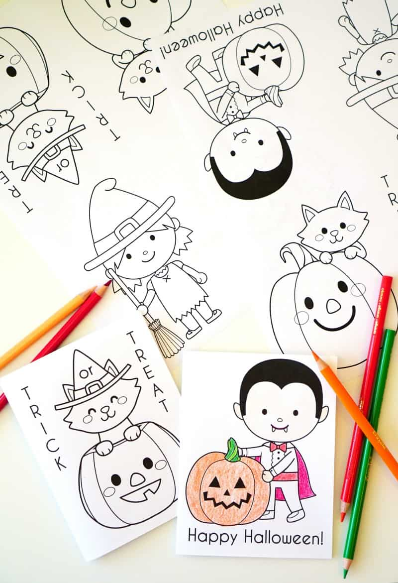 Printable Halloween Coloring Books - 30 Days of Halloween 2016: Day 20