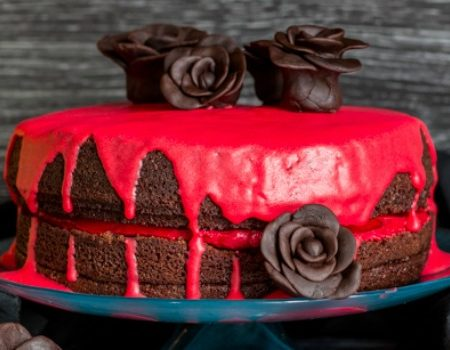 Bloody Good Double Chocolate Halloween Cake – 30 Days of Halloween 2016: Day 29