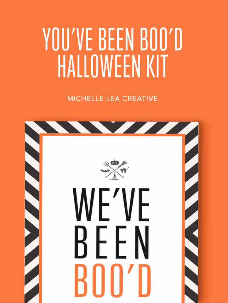 """You've Been BOO'd"" Halloween Kit"