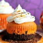 Brownie Bottom Halloween Cupcakes – 30 Days of Halloween 2016: Day 13
