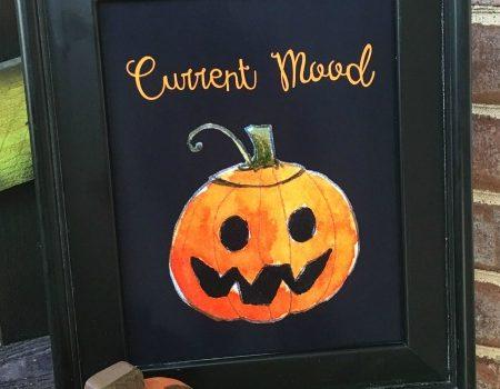 """Current Mood"" Halloween Printable Decor- 30 Days of Halloween: Day 18"