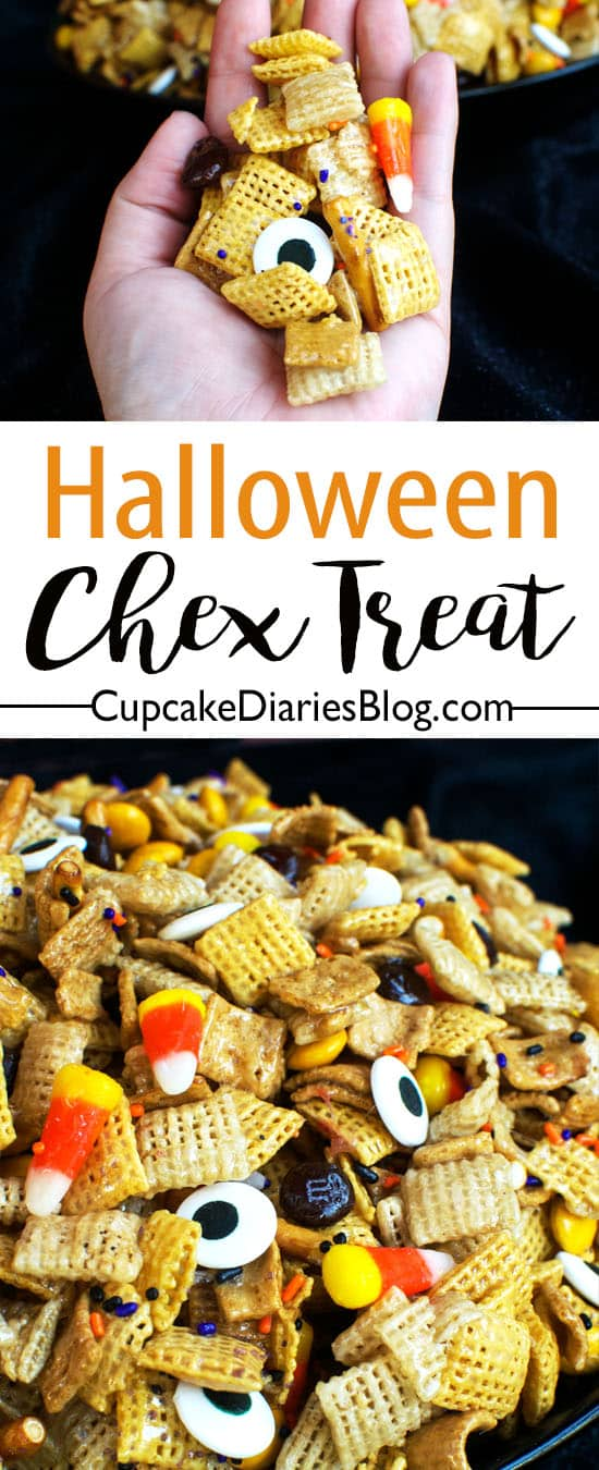 Halloween Chex Treat - A perfectly sweet and salty mix for a party!