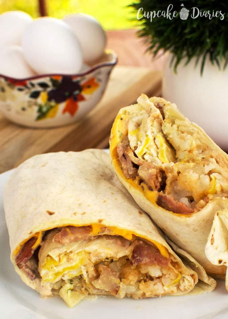 Breakfast Beef Burritos