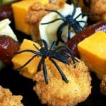 #ad Halloween Chicken and Pasta Skewers