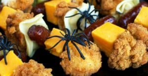 Halloween Chicken and Pasta Skewers – 30 Days of Halloween: Day 28