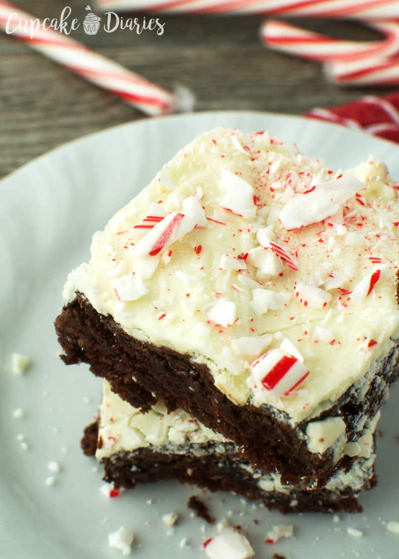 Peppermint Bark Brownies Recipe — Dishmaps
