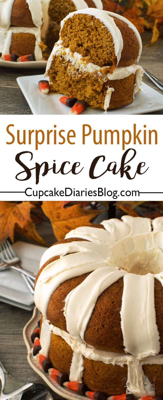 Surprise Pumpkin Spice Cake