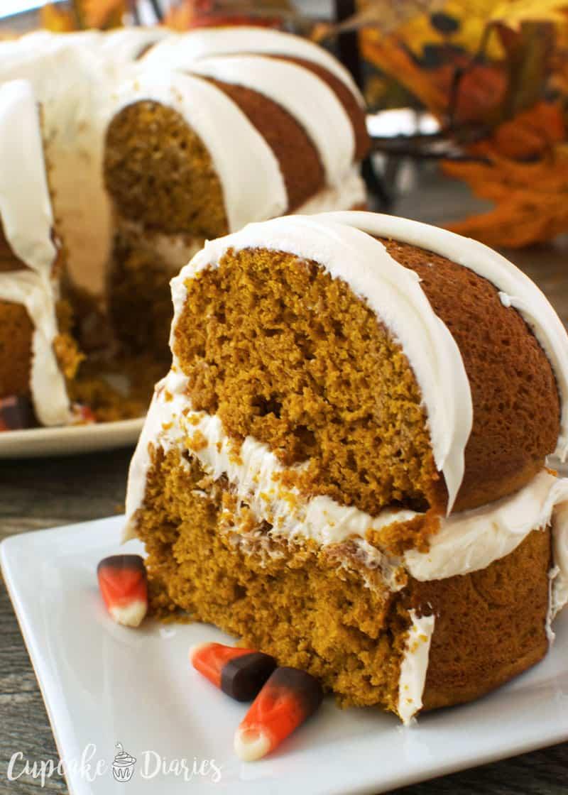 Surprise Pumpkin Spice Cake