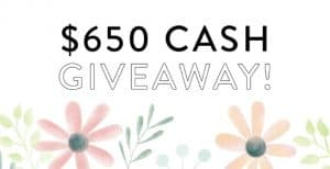 $650 PayPal Cash Giveaway