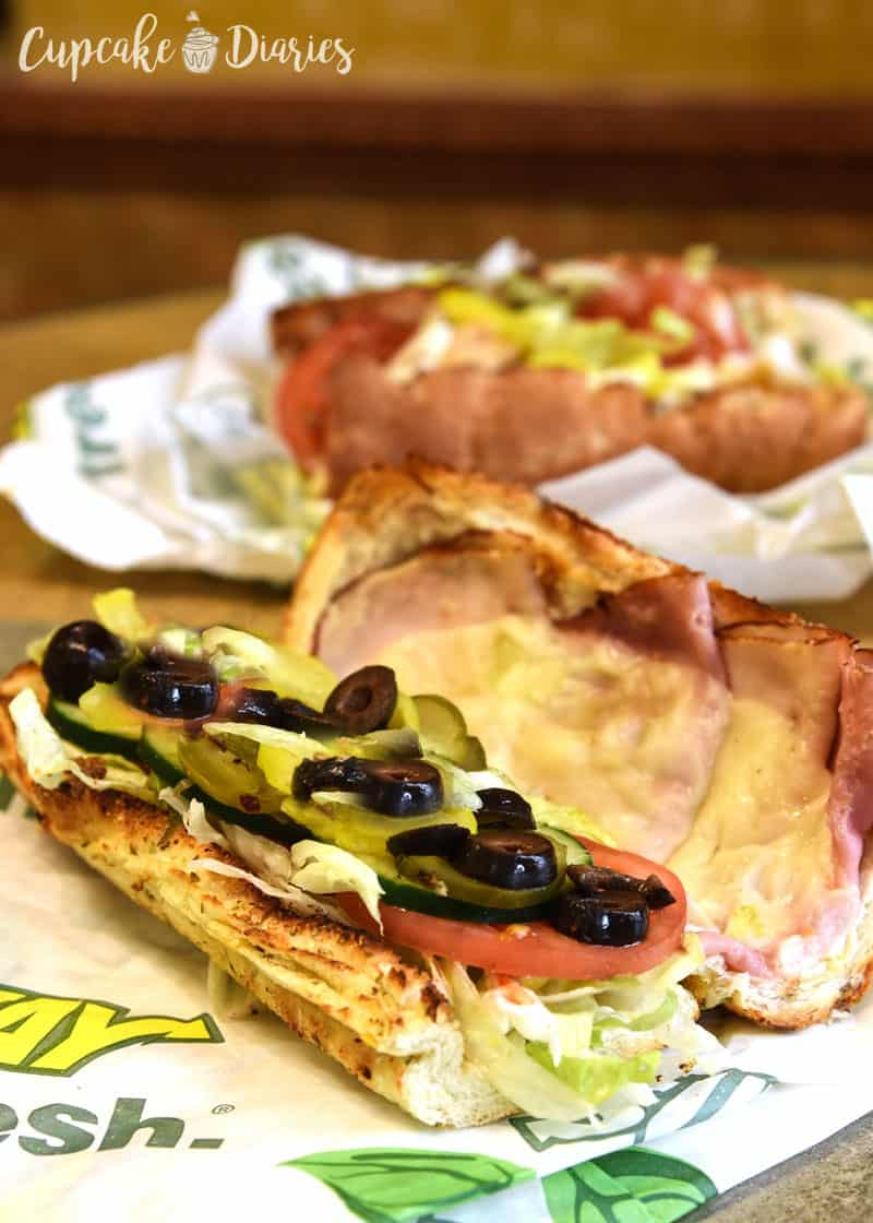 SUBWAY Sandwich with Veggies
