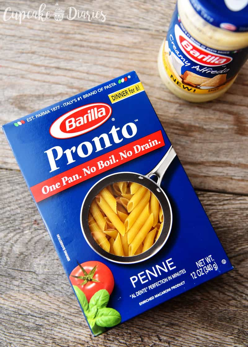 Barilla Pronto Penne Pasta and Barilla Creamy Alfredo