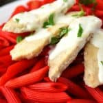 Chicken Penne Alfredo for Valentine's Day