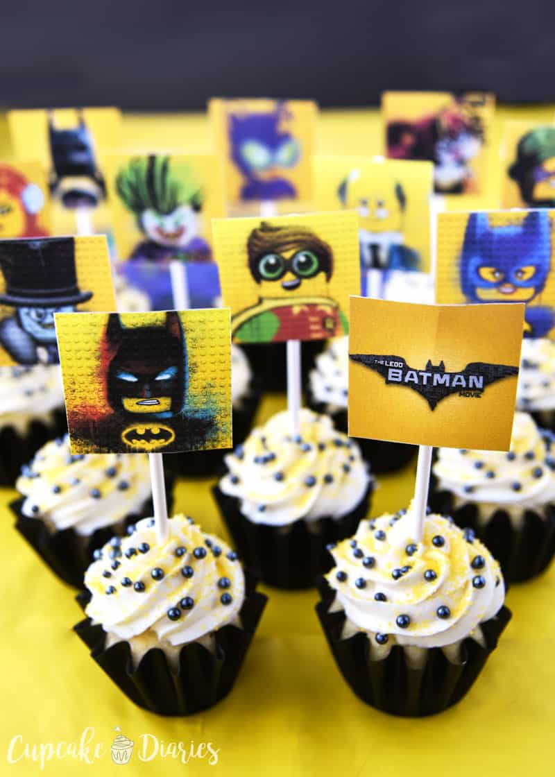 photograph about Printable Cupcakes named Lego Batman Cupcakes with Absolutely free Printable Toppers