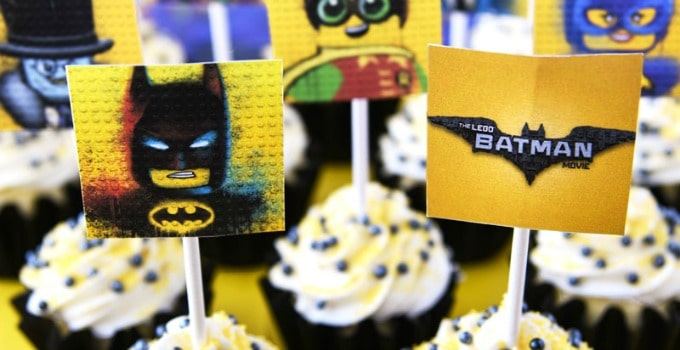 Lego Batman Cupcakes with Free Printable Toppers