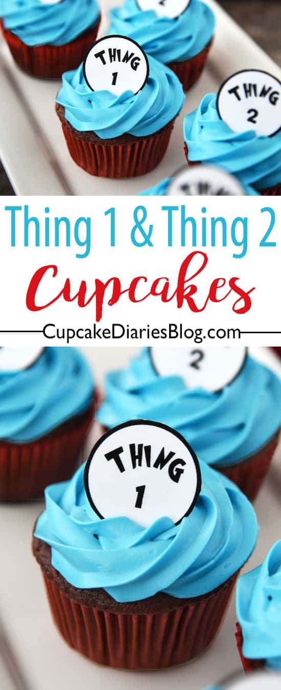 Thing One and Thing Two Cupcakes