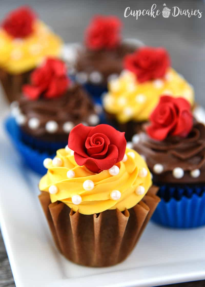 Beauty And The Beast Cupcakes on Pinterest Decorating Ideas Dr Seuss