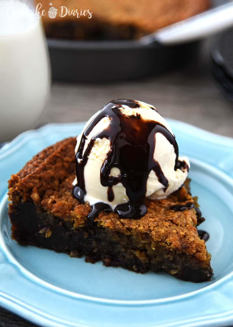Flourless Chocolate Chip Cookie Pie