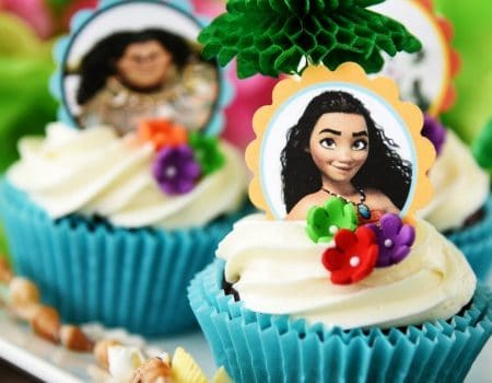 Moana Cupcakes