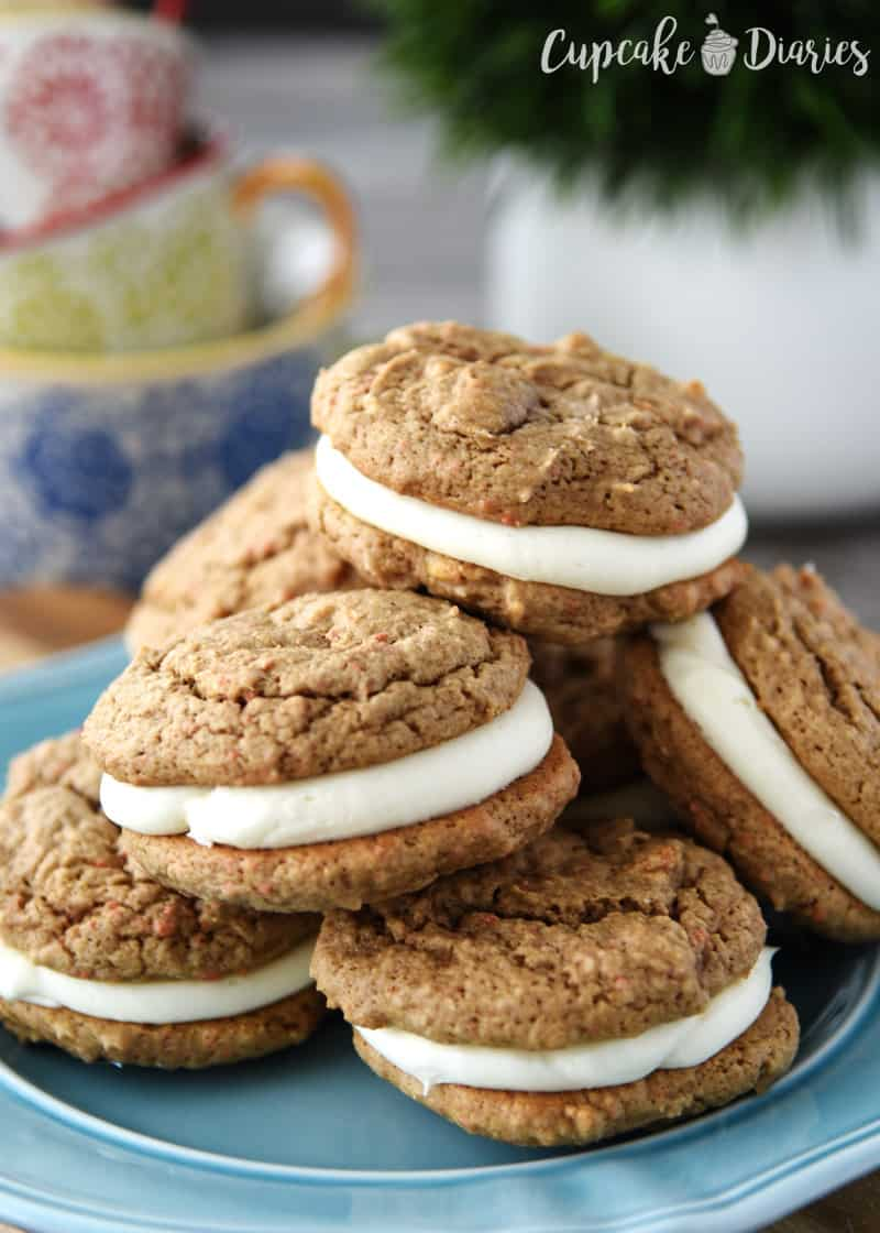 Carrot Cake Cookies - These copycat cookies from Sweet Spells at Disney World in Disney's Hollywood Studios is the perfect dessert for any occasion!