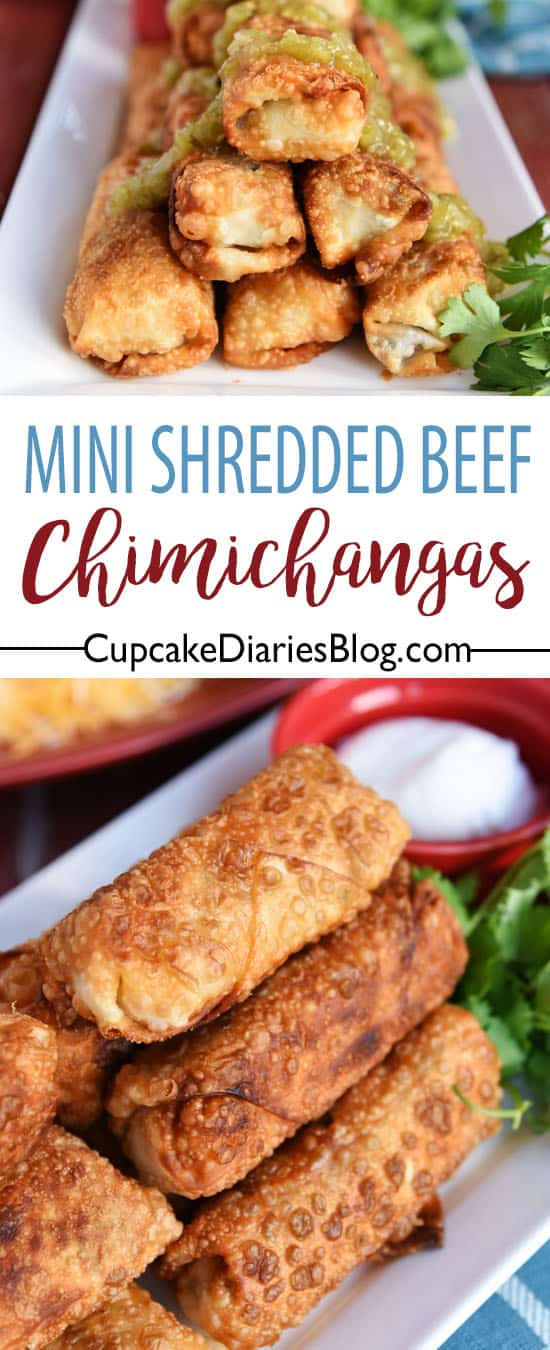 Mini Shredded Beef Chimichangas