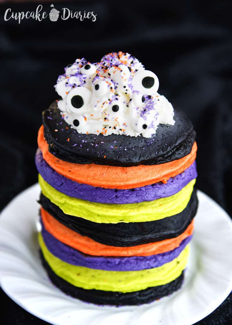Colorful Halloween Pancakes