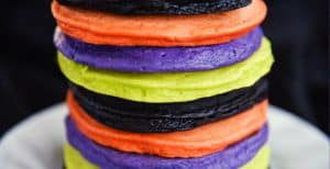 Colorful Halloween Pancakes – 30 Days of Halloween 2017: Day 23