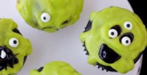 Slime Monster Cupcakes- 30 Days of Halloween: Day 5