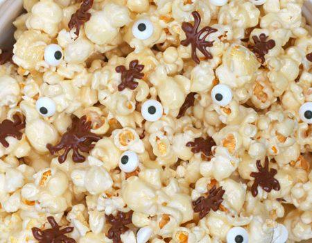 Sticky Caramel Marshmallow Popcorn
