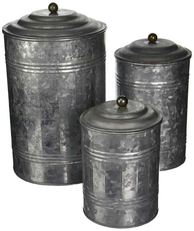 Metal Galvanized Canisters