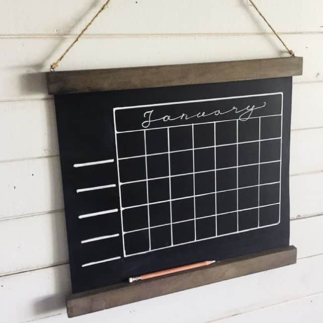 Chalkboard Calendar from Soffe Farm
