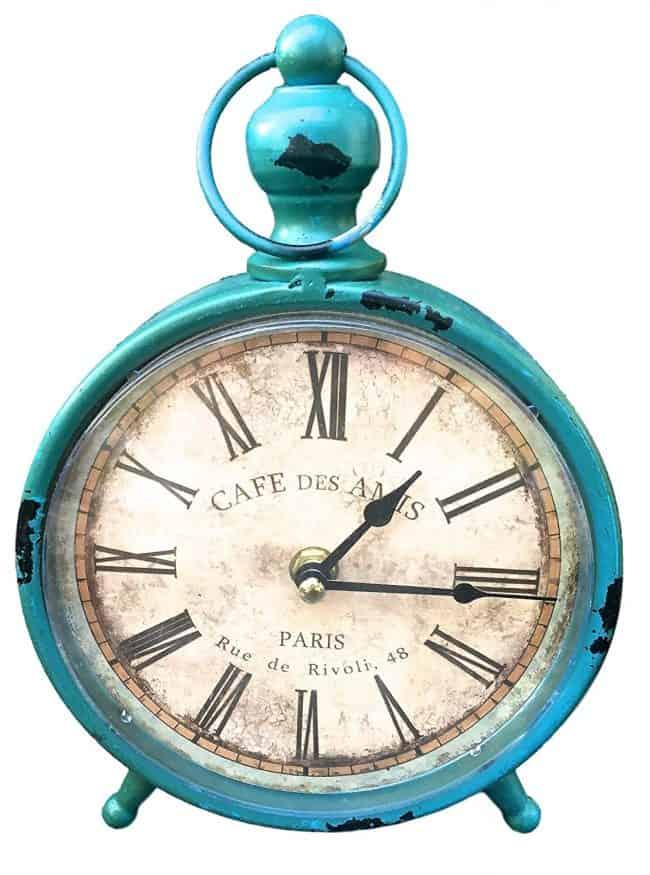 Vintage Distressed Metal Decorative Clock