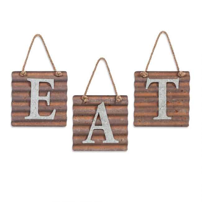 "Metal ""Eat"" Letter Sign"