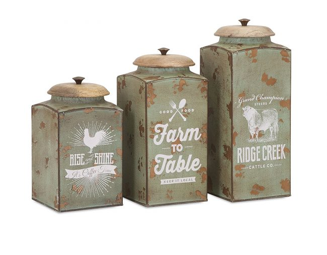 Farmhouse Lidded Canisters