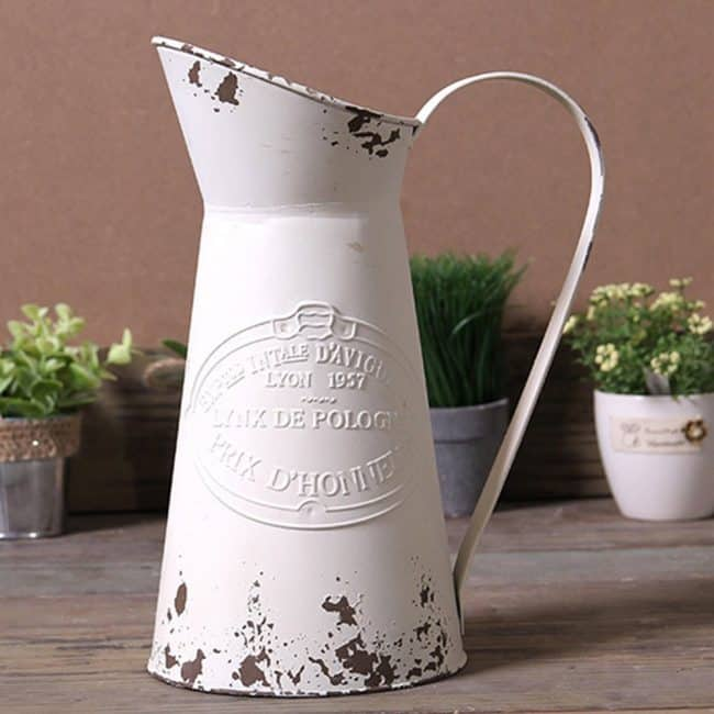 Metal Jug Flower Pitcher Vase