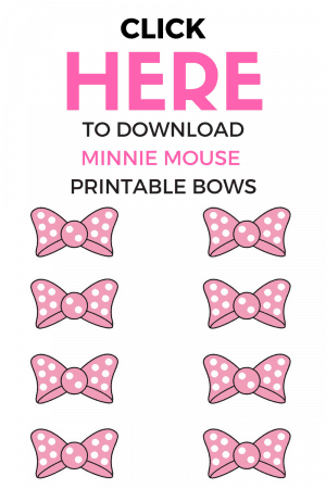 picture relating to Minnie Mouse Bow Printable identify Mickey and Minnie Cupcakes