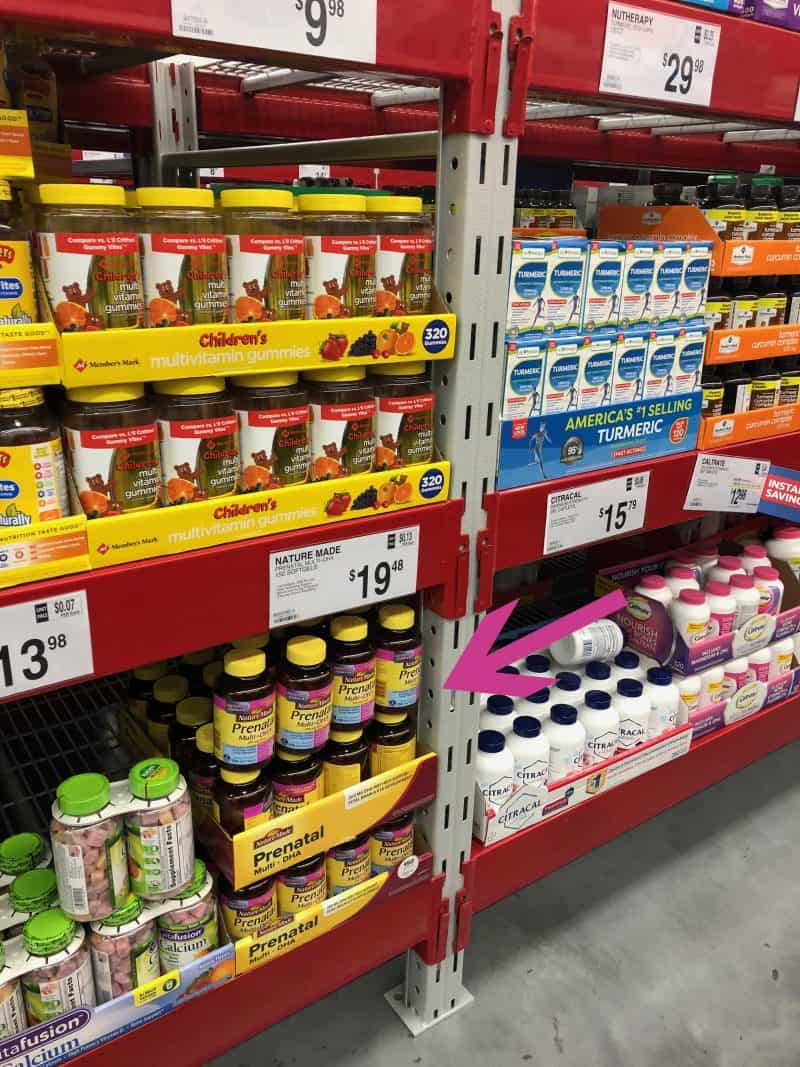 Nature Made Prenatal Multi + DHA at Sam's Club