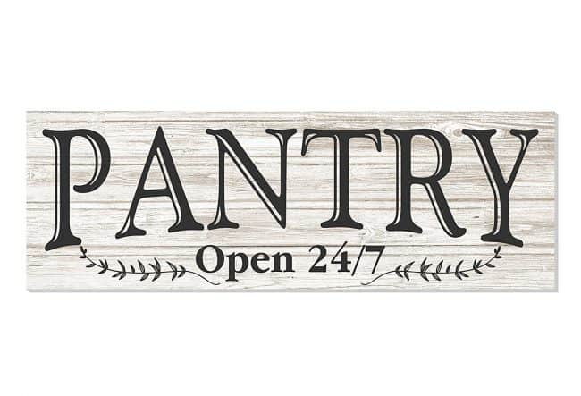 White Rustic Pantry Sign