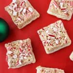 Peppermint and White Chocolate Krispy Treats