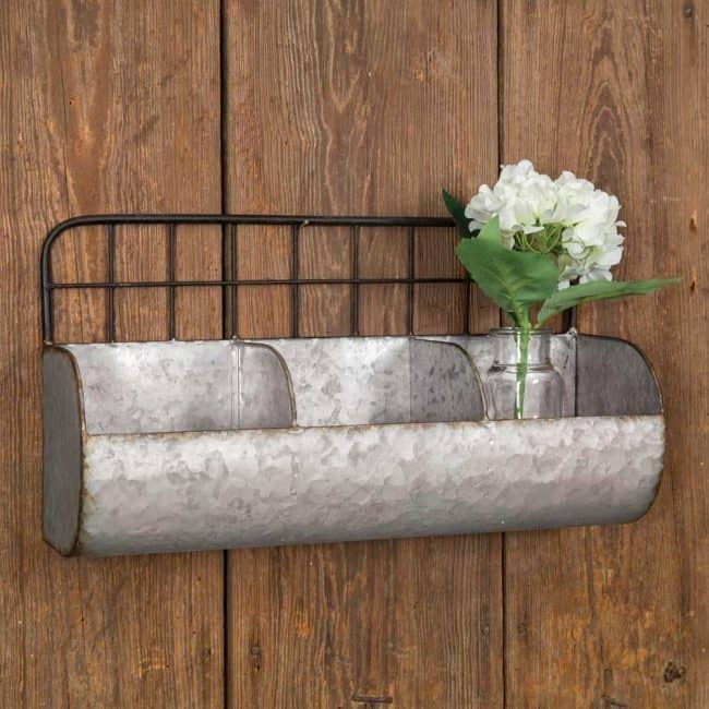 Industrial Farmhouse Wall Bin/Cady