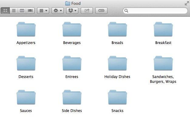 How to Get Your Blog Organized and Keep It That Way - Food Folders
