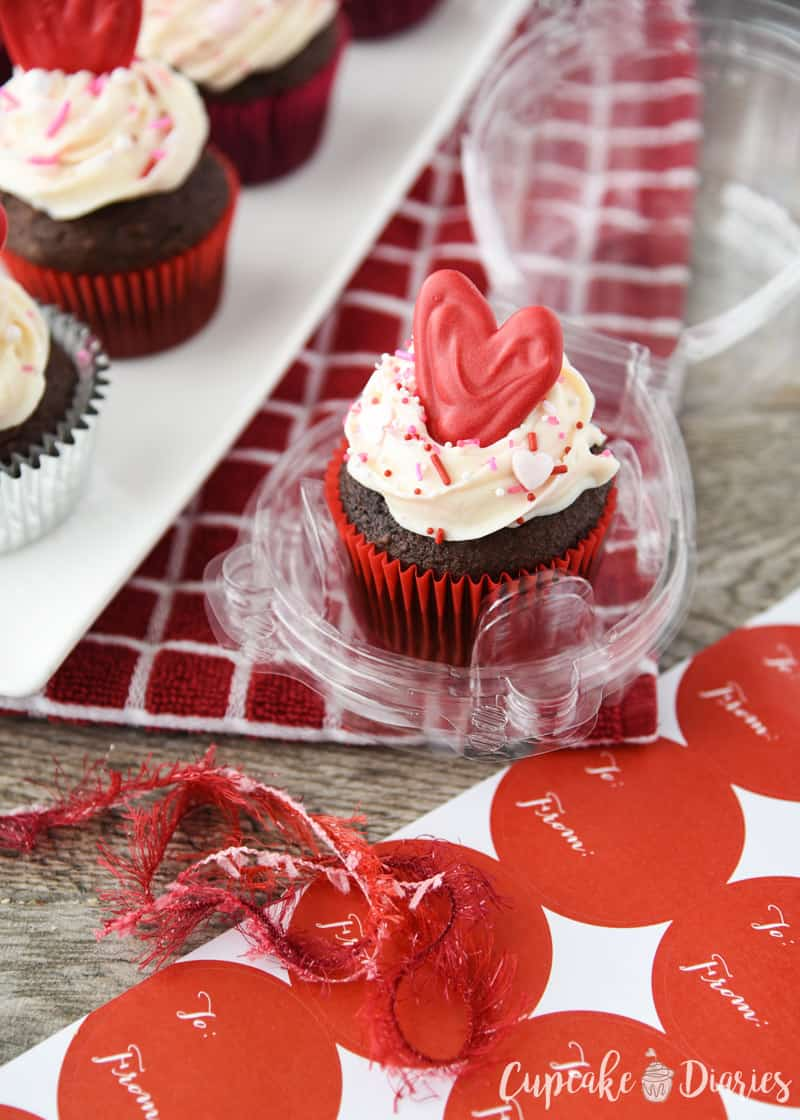 "Share the love this Valentine's Day with a chocolate cupcake! ""Love"" Cupcakes are the perfect way to treat your valentine."